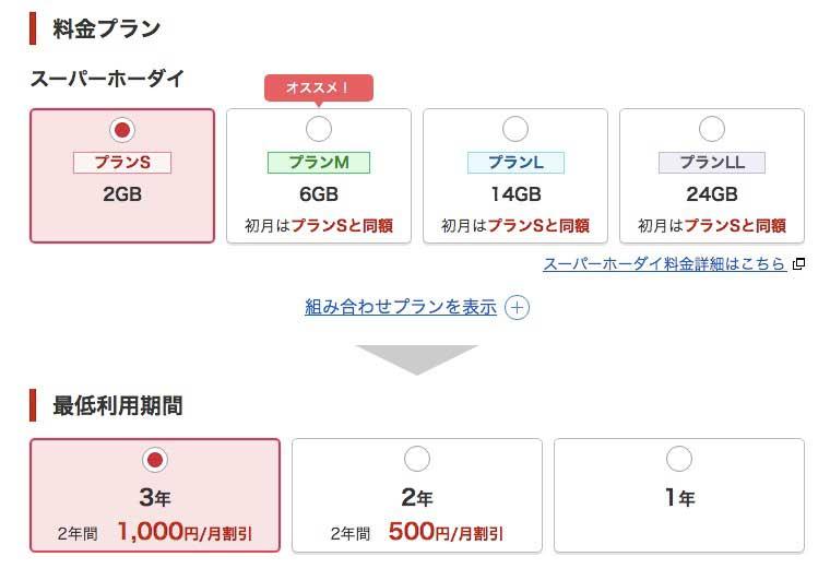 楽天モバイルの申し込み方法05